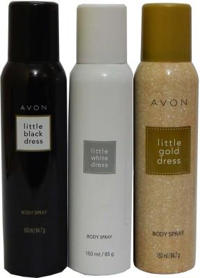 Avon Little Black & White & Gold Dress Body Each 150 ml Combo Set