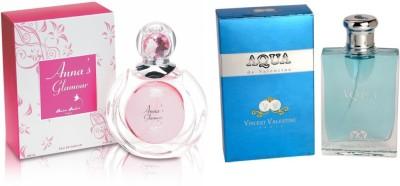Anna Andre Paris Set of Anna's Glamour EDT & Aqua de Valentine EDT Gift Set