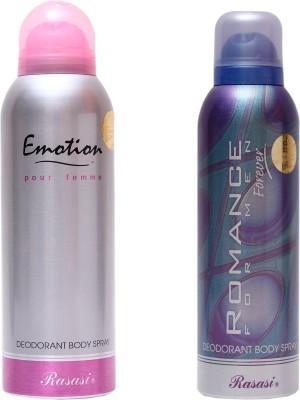 Rasasi Emotion Women::Romance Men Combo Set