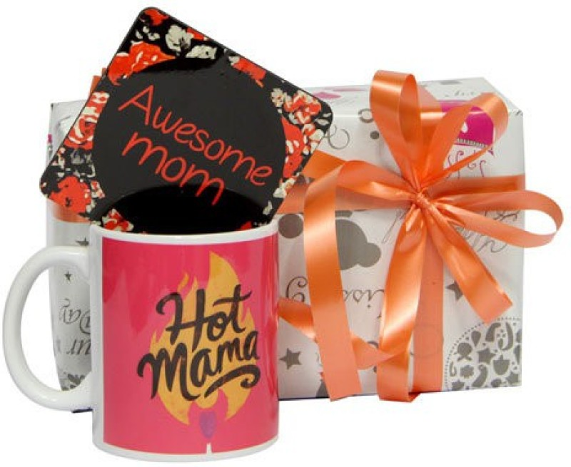 Gifts By Meeta Mug with Coaster for Mommy Pack Combo Set(Set of 2)