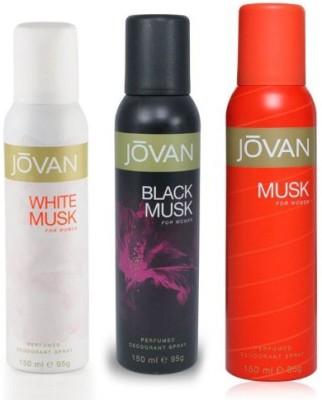 Jovan White Musk, Black Musk & Musk Combo Set