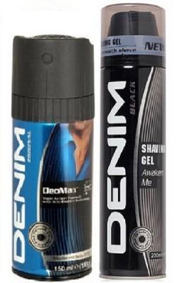 Denim 1 Deo Original 150ml,1 Shaving Gel Black 200ml Combo Set