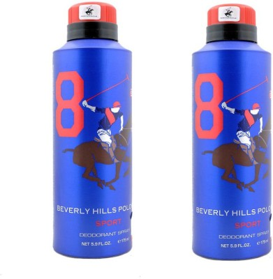 Beverly Hills Polo Club Sport 9 Deodorant Spray-Blue Combo Set