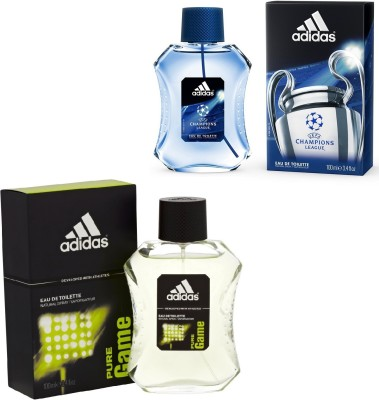 Adidas Pure Game And Champions League Edt For Men 100 Ml Gift Set  Combo Set