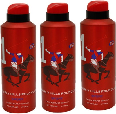 Beverly Hills Polo Club Sport Deodorant Spray Combo Set