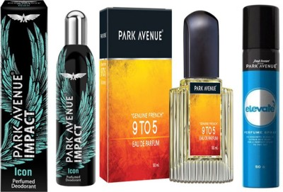 Park Avenue 9 to 5 EDP ,Impact - Icon ,Elevate Deodorant Spray Combo Set