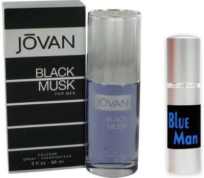 Jovan Black Musk Perfume And Blue Man Combo Set