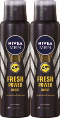 Nivea Fresh Power Boost Deodorant Spray Combo Set