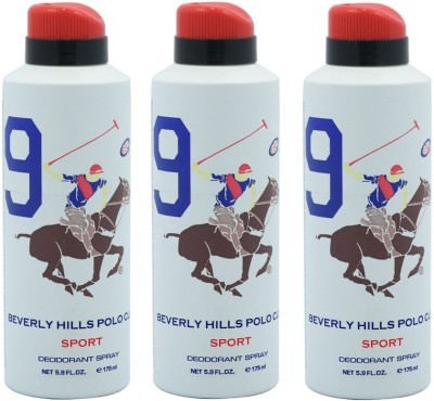Beverly Hills Polo Club Sport 9 Deodorant Spray Combo Set
