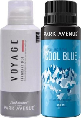 Park Avenue Cool Blue ,Voyage Deodorants Gift Set  Combo Set