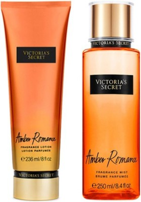 Victoria's Secret New! Amber Romance Fragrance Mist And Lotion Combo Set