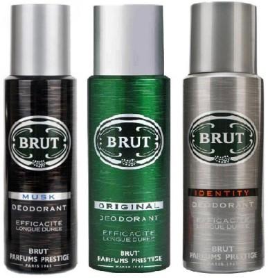 Brut Deo Musk Original & Identity 200ml Gift Set  Combo Set