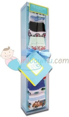Baby Bucket Soft Cotton Socks Combo Set