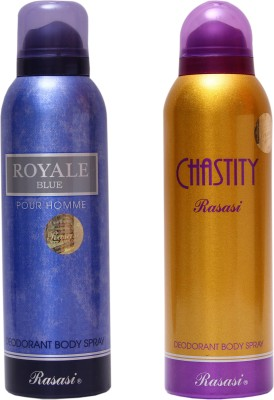 Rasasi Royale Blue Men::Chastity Women Combo Set