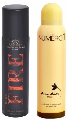 Anna Andre Paris Set of Dark Fire & Numero 1 Deodorants Combo Set