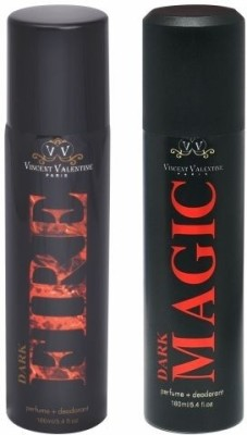 Vincent Valentine Paris Set of Dark Fire & Dark Magic Deodorants Combo Set
