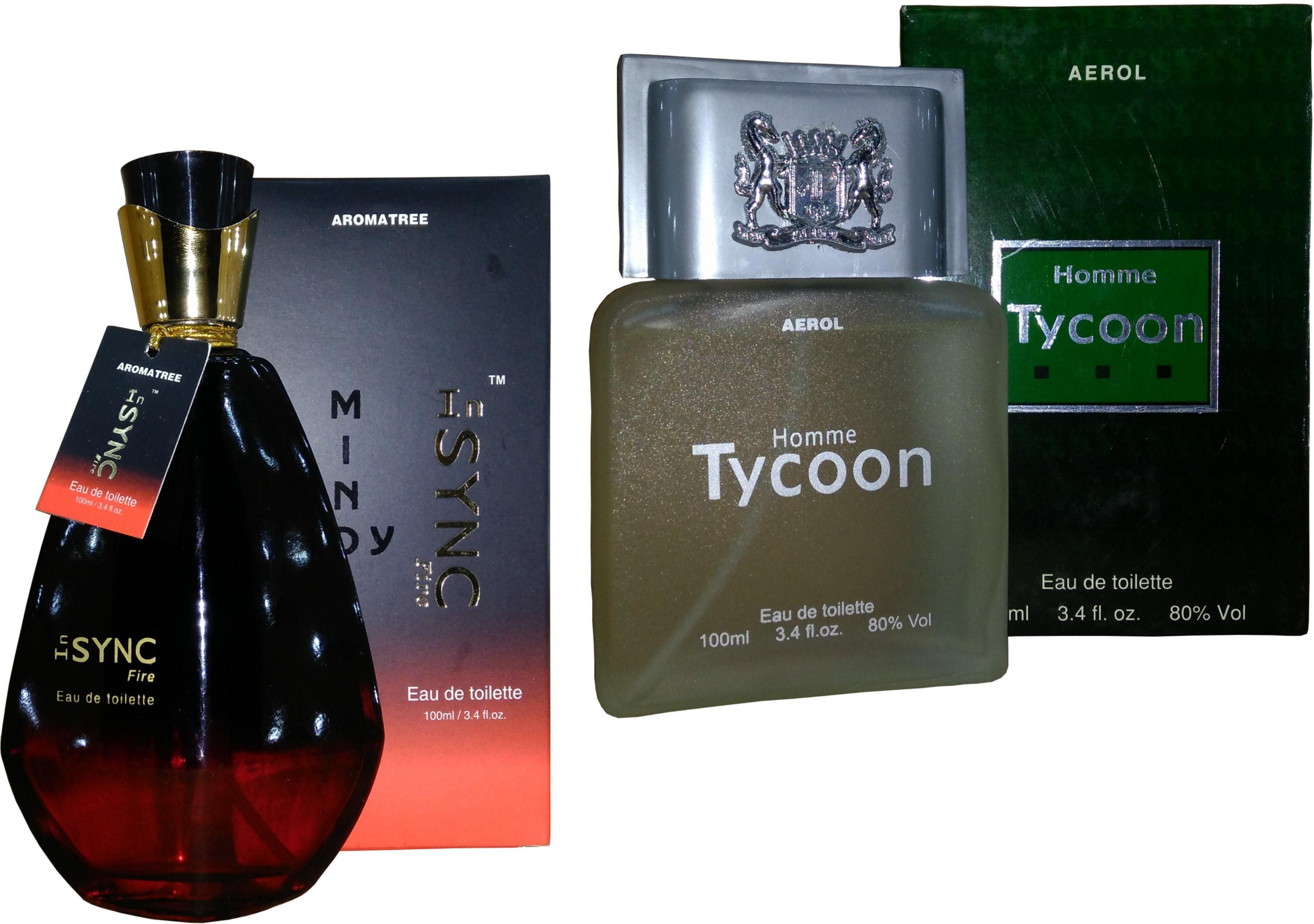 Aroma Tree InSYNC Fire Perfume And Homme Tycoon Perfume Set Combo Set(Set of 2)