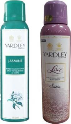 Yardley Jasmine and Lace Satin Combo Set
