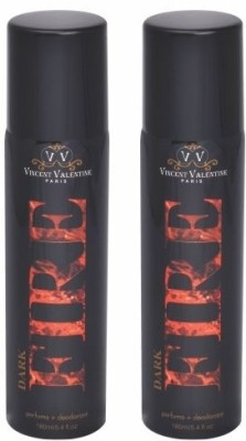 Vincent Valentine Paris Set of Dark Fire & Dark Fire Deodorants Combo Set