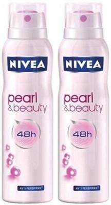 Nivea Pearl and Beauty Deodorant Spray Combo Set(Set of 2)