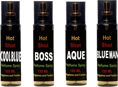 Fragrance And Fashion Set of 4 Perfume for Men of 135 ml Each Combo Set