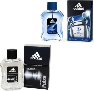 Adidas Dynamic Pulse Edt 100 Ml And Champions League Edt For Men 100 Ml Gift Set  Combo Set