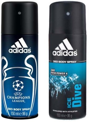Adidas Champions League and Ice Drive Combo Set