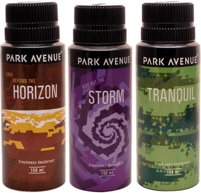 Park Avenue Park Avenue Storm, Tranquil, Horizon Pack of 3 Deodorants Combo Set
