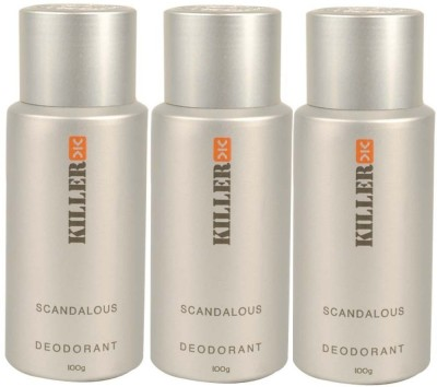 Killer 3 Scandalous Deodorants Combo Set