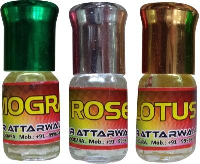 Kr Attarwala Natural Fragrances of Rose, Mogra and Lotus Gift Set  Combo Set