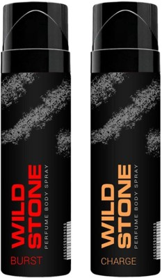 Wild Stone Burs And Charge No Gas Perfumed Deodorant Spray 120ml Each Combo Set