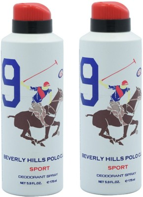 Beverly Hills Polo Club Sport 9 Deodorant Spray-White Combo Set