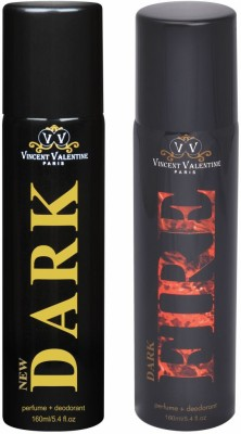 Vincent Valentine Paris Set of New Dark & Dark Fire Deodorants Combo Set