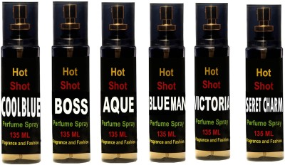 Fragrance And Fashion Set of 6 Perfume for Men and Women of 135 ml Each Combo Set