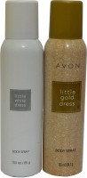 Avon Little Gold & White Dress Body Each 150 ml Combo Set(Set of 2)