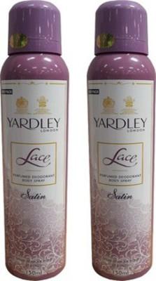 Yardley Lace Satin Combo Set