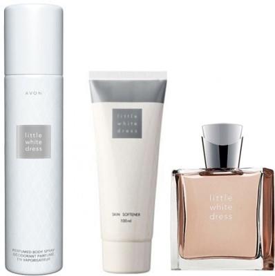 Avon Little White Dress Skin Softner (100ml) + EDP (50ml) + Body Spray (150ml) Combo Set