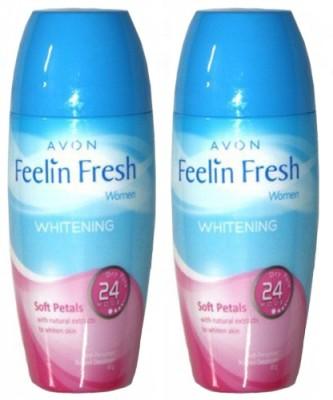 Avon Feelin Fresh Whitening Soft Petals Roll-on Deodorant combo set (40g each) Combo Set