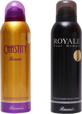 Rasasi Chastity Women::Royale Men Combo Set