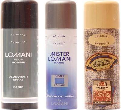 Lomani Mister Lomani,Elpaso,Pour Homme Combo Set