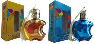 Kr Attarwala Apple Jasmin Attar 12ml + Apple Blue Lagoon Attar 12ml Gift Set