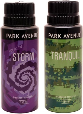 Park Avenue Park Avenue Storm, Tranquil Pack of 2 Deodorants Combo Set