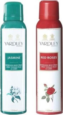 Yardley Jasmine and Red Roses Combo Set