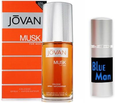Jovan Musk Perfume And Blue Man Combo Set