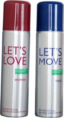 Benetton Lets Love lets moov Gift Set  Combo Set