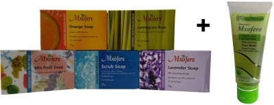 Mxofere Combo Orange Lemongrass Mixfruit Scrub Lavender Soap Kit