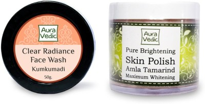 Auravedic Kumkumadi Face Wash & Pure Brightening Skin Polish
