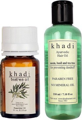 khadi Natural Tea-Tree (Essential Oil With Paraben Free Hair Oil)