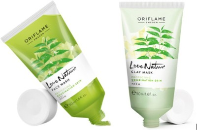 Oriflame Sweden Pure Nature Neem Face Wash and Clay Mask