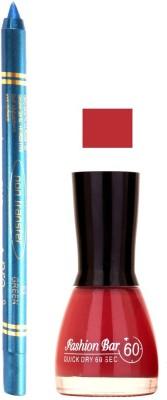 Fashion Bar Redish Pink Nail Polish With Pro Non Transfer Turquoise Blue Kajal 66